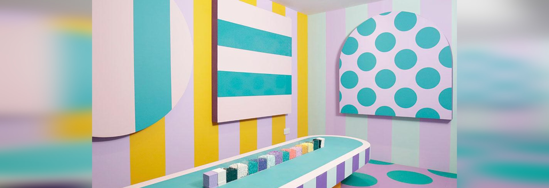 Inside House Of Dots by Camille Walala for Lego