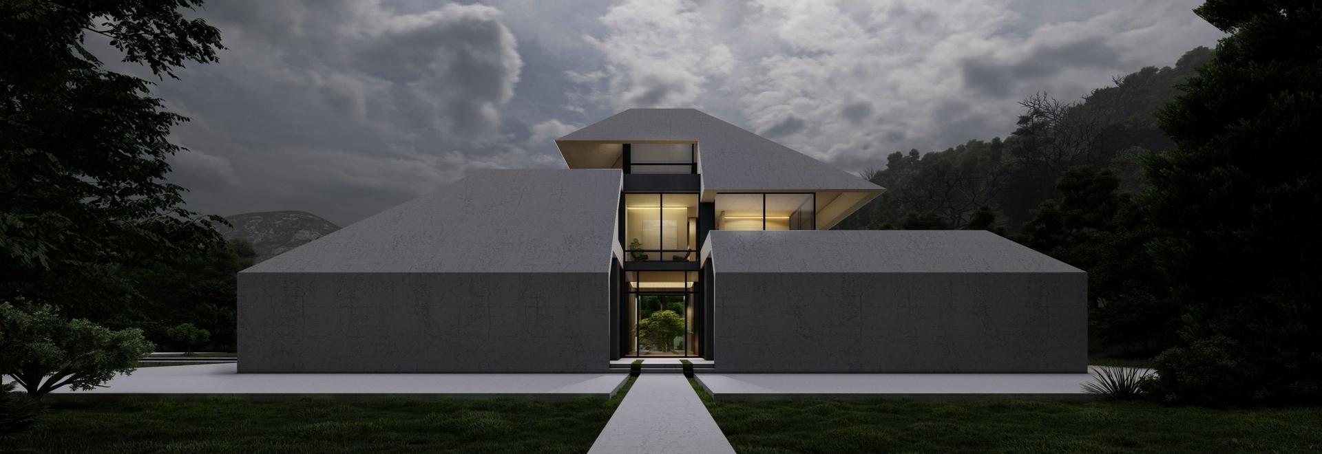 Iran's humid, rainy region informs the gabled 'gilak villa' by Team Design Group