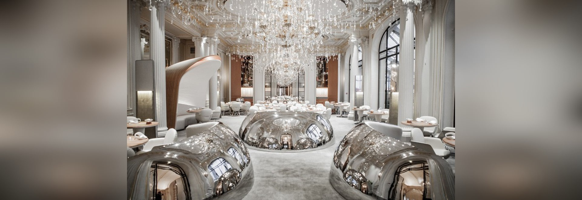 Jouin Manku Design A Restaurant Filled With Stainless-Steel Pods