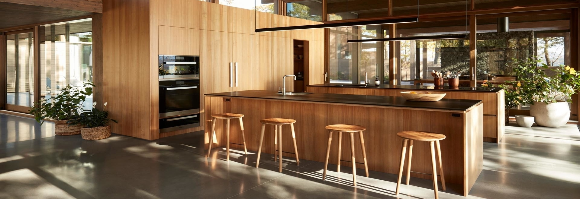 A Kitchen With Two Islands Provides Double The Counter Space For Serious Cooking