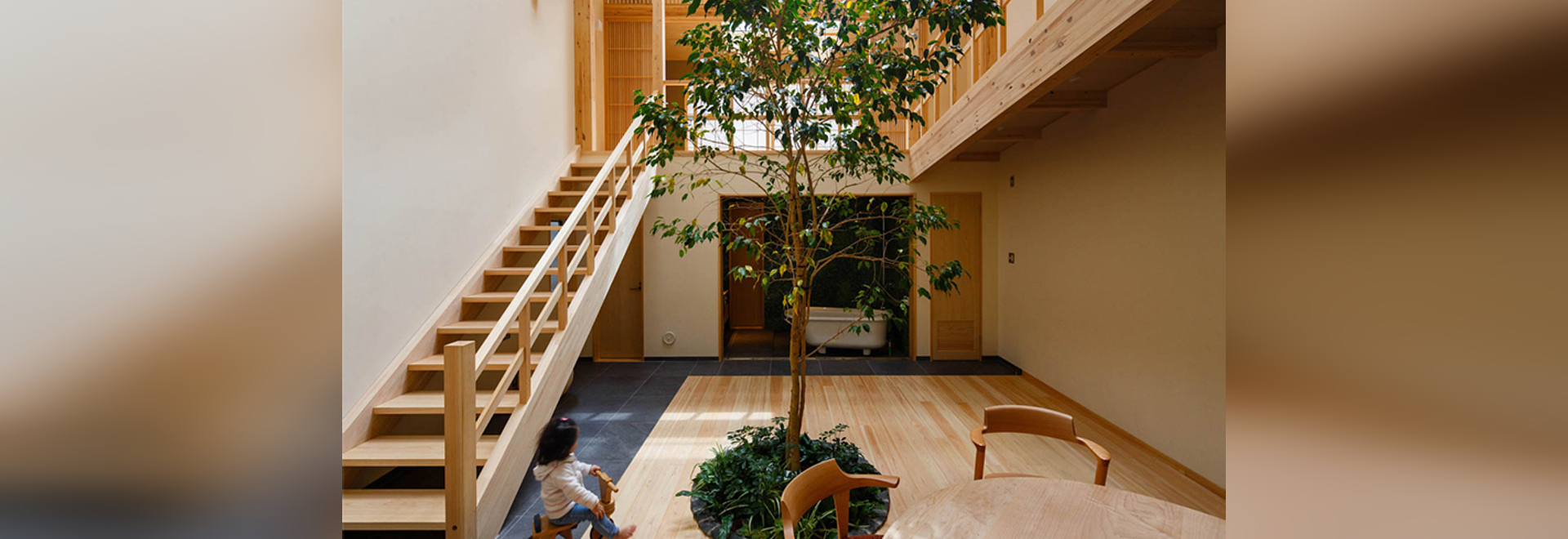 The Kyoto House has a Tree Growing in It
