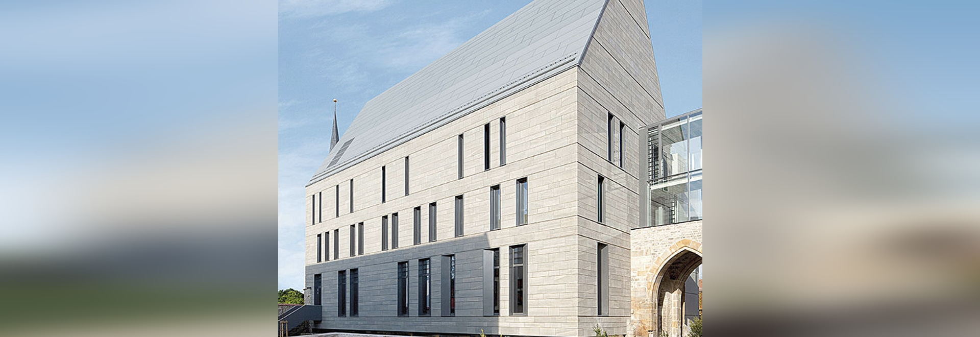 Library Augustinian Monastery - Historic architecture in modern clothing with Reynobond Zinc composite panels