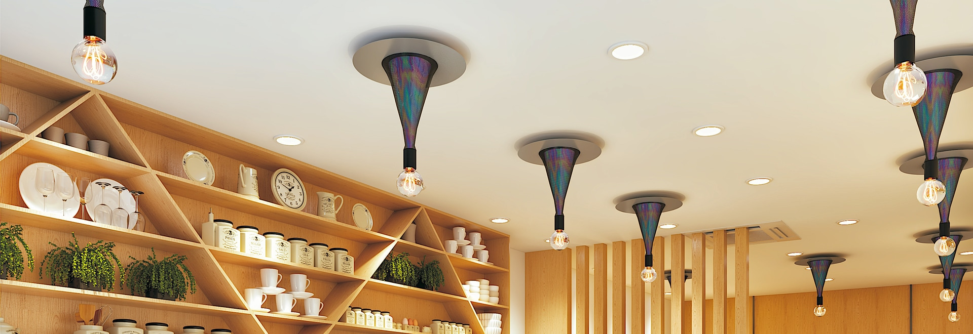 Look up to the ceiling: interior designs with WOW effect