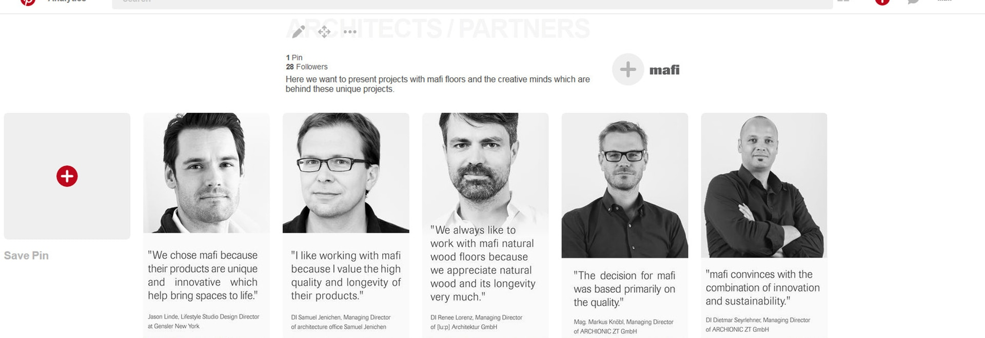 mafi brings architects and designers into the spotlight