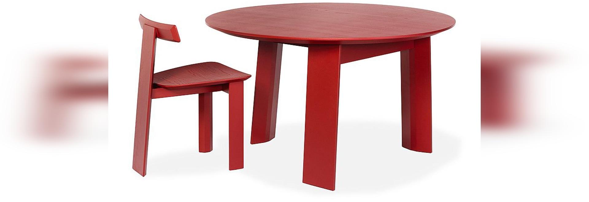 Mark Chair and Table by Sebastian Herkner