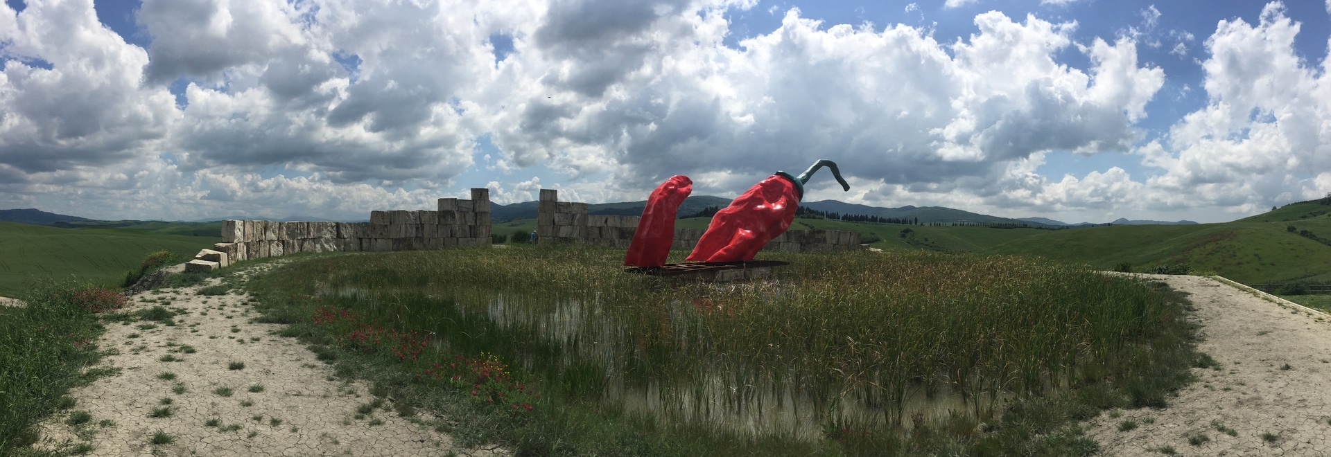Micene travertine blocks and Giuseppe Carta's work