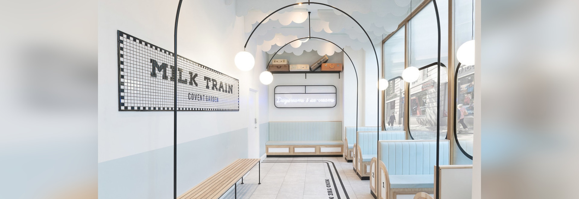 The Milk Train Ice Cream Cafe Was Inspired By British Trains And Their Stations
