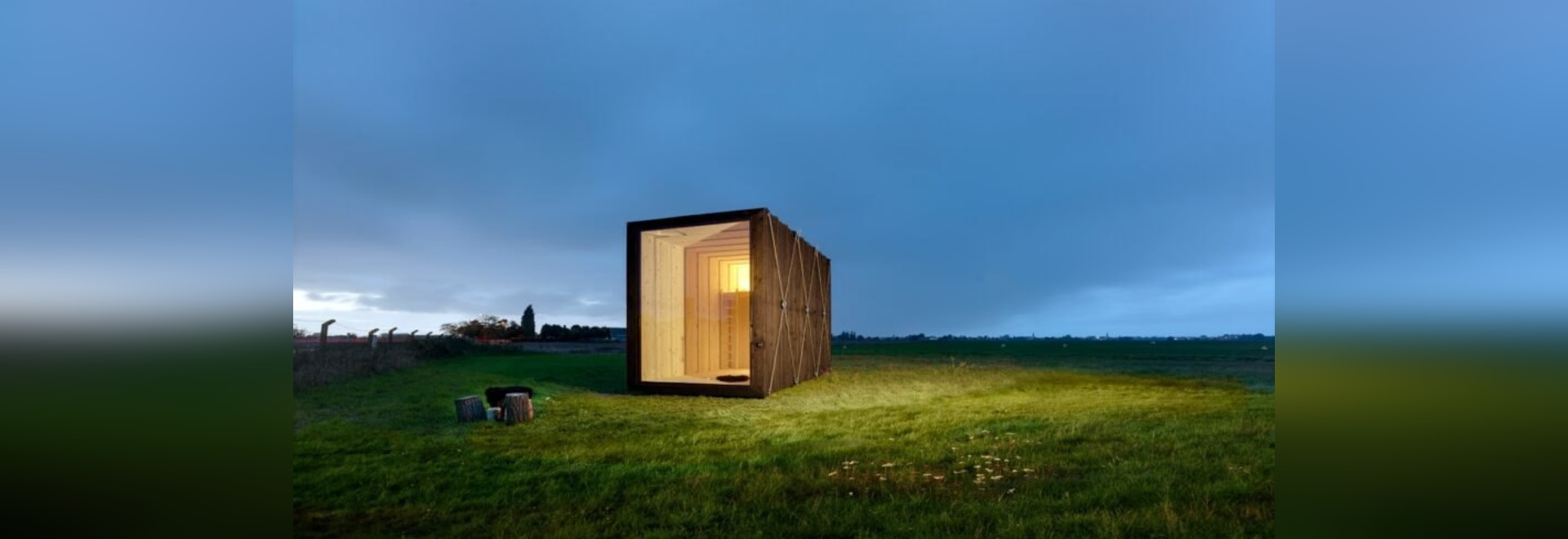 Minimalist, charred-timber tiny cabin is only 129 square feet
