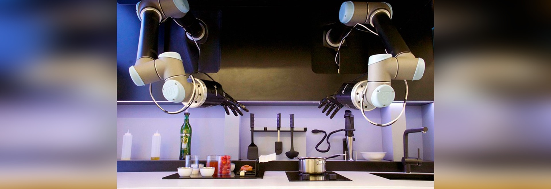 moley automated kitchen uses pair of robotic arms to prepare meals