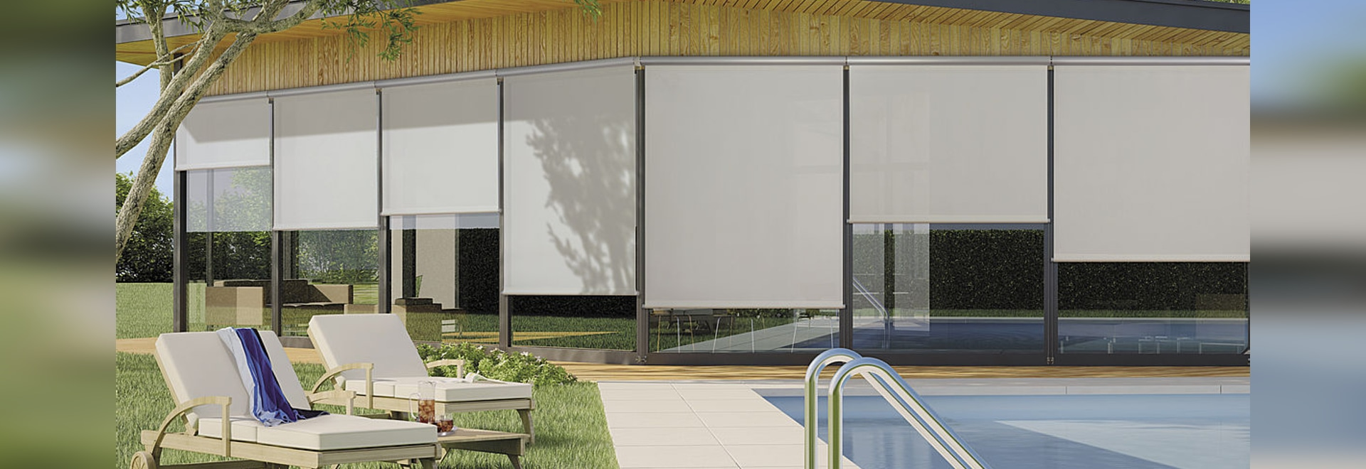 MOTOR OPERATED ROLLER BLINDS WITH HEADBOX