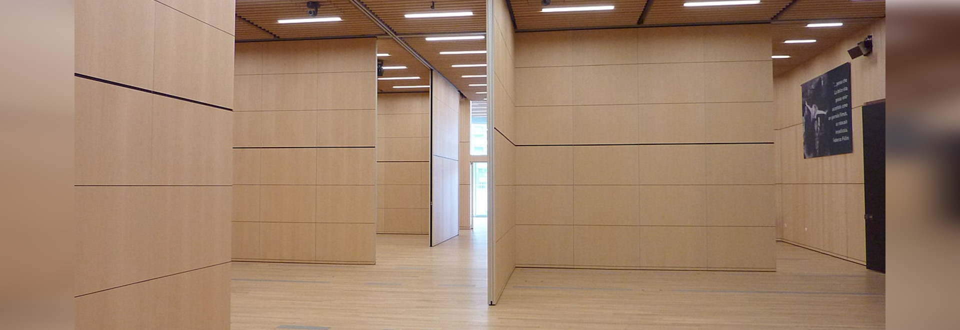 Movable sound-insulated walls