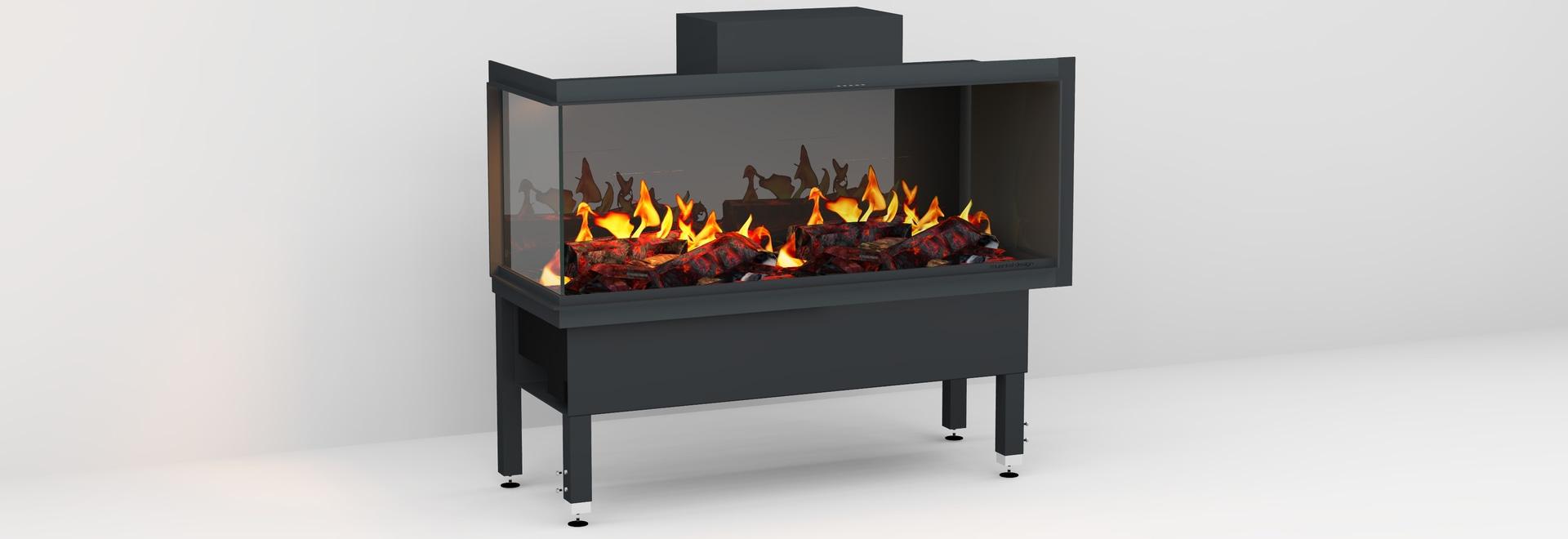 muenkel design wall fire electronic PRO FL / FR [Opti-myst electric fireplace insert wall installation]