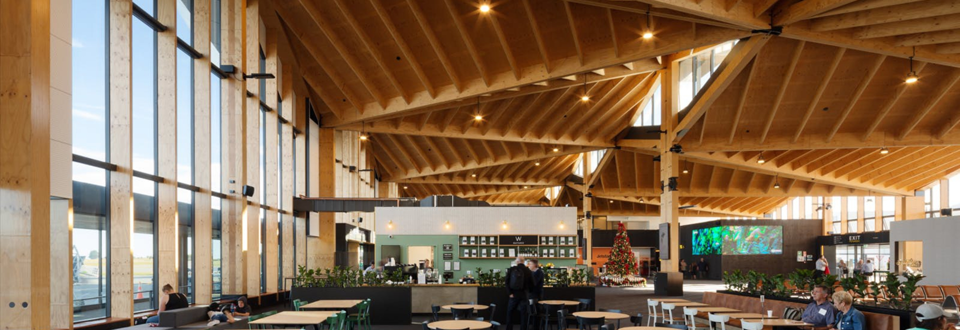 Nelson Airport, Sublime Cofee Project feat. TOOU Chairs with eco-leather seat paddings