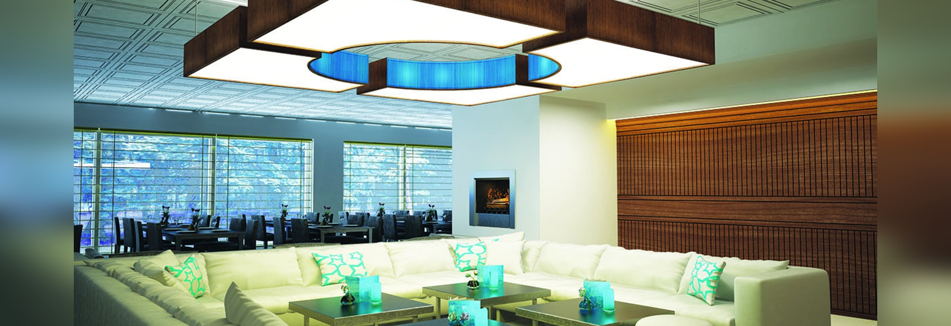 NEW: decorative suspended ceiling by MUR design