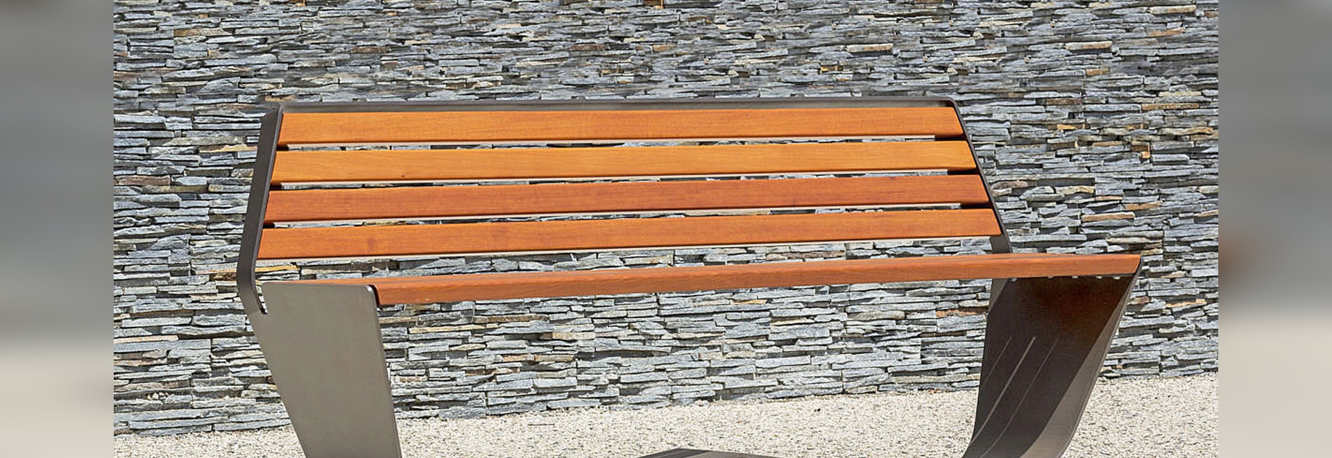 NEW KARMA Public bench (wood and steel)