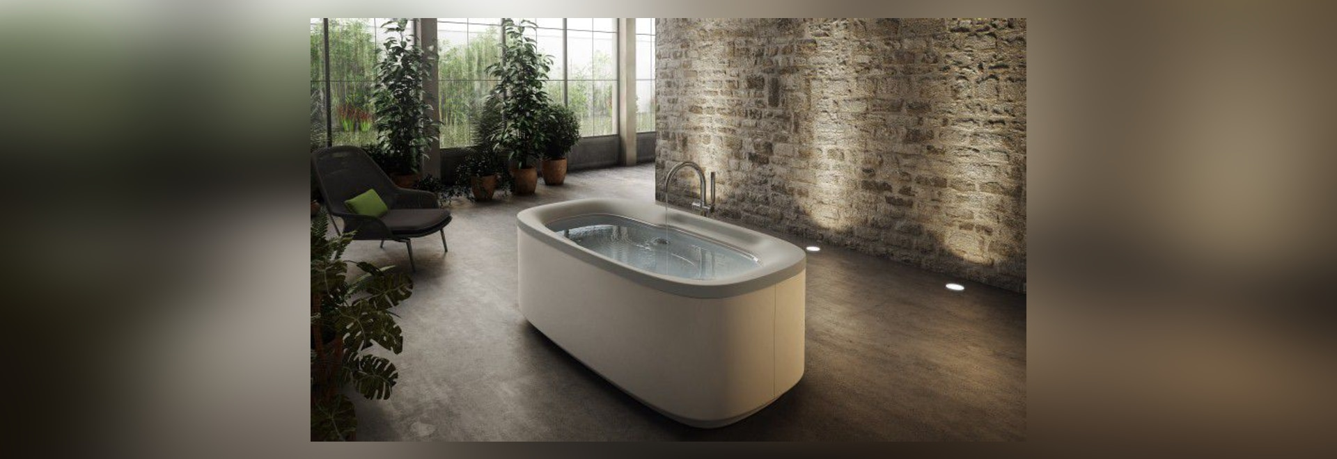 NEW: oval bathtub by Jacuzzi Europe S.p.A.