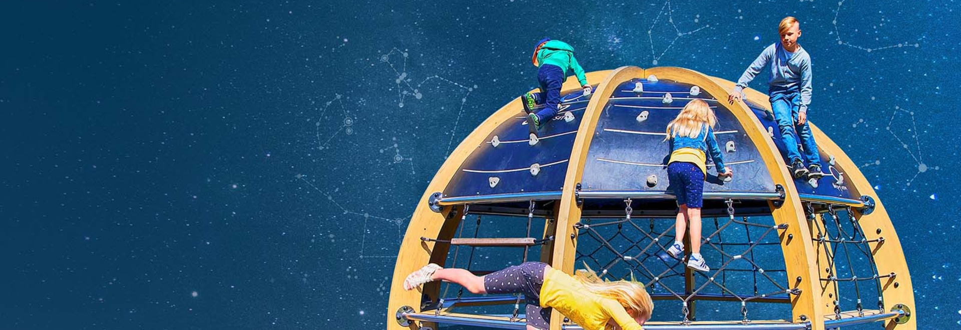 New! Play Planetarium is a unique play equipment and learning environment.