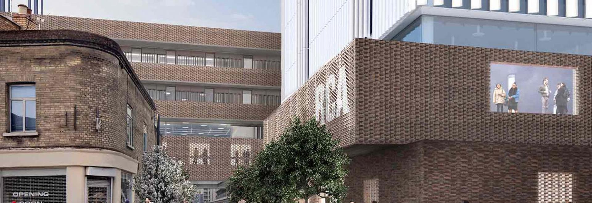 The new RCA Battersea Building designed by Herzog & de Meuron scheduled to complete by 2020. Image: © Herzog & de Meuron