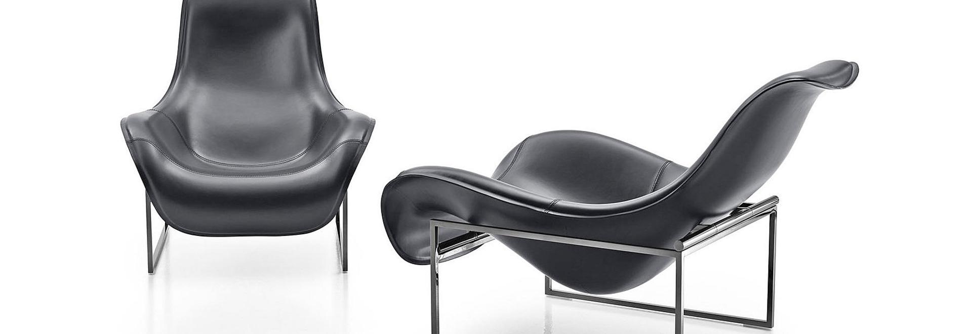 NEW: sled base armchair by B&B Italia