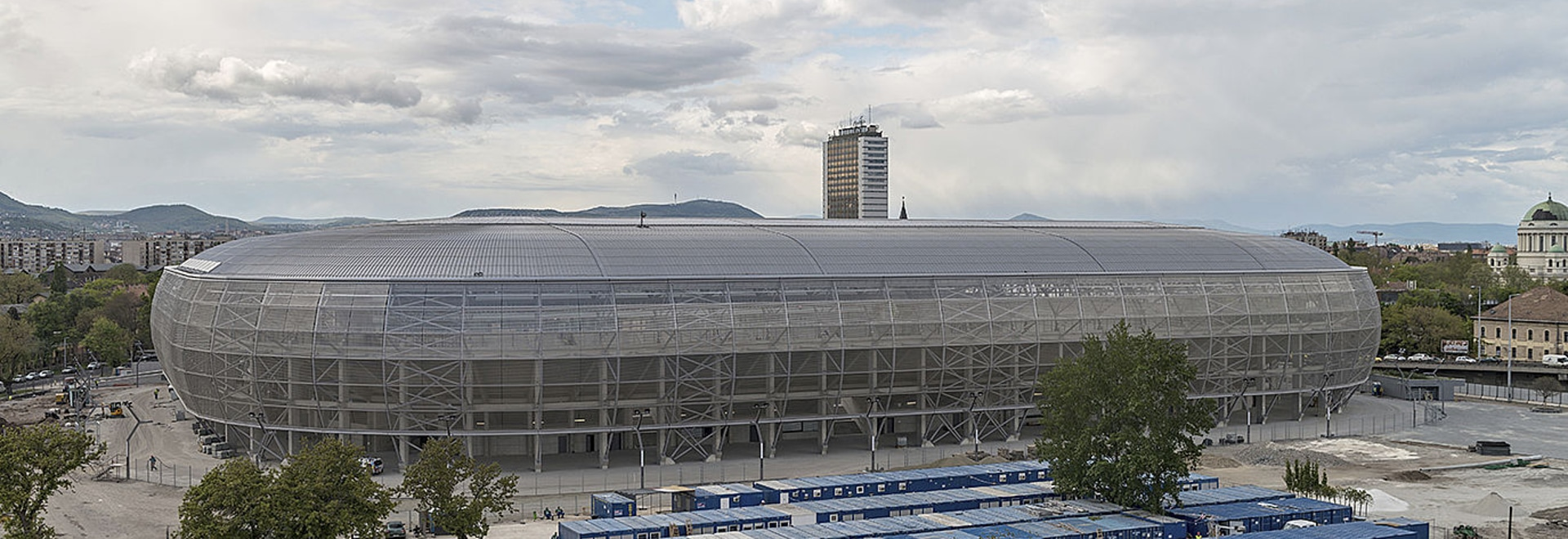 A new stadium has been built in Budapest