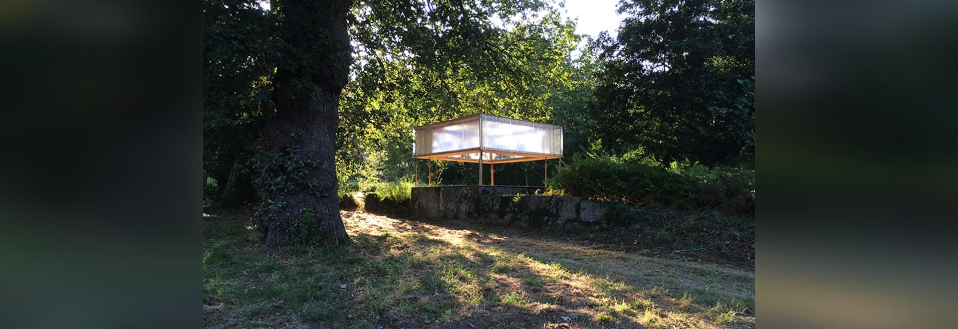 nuno pimenta creates hovering temporary bar for music festival in portugal