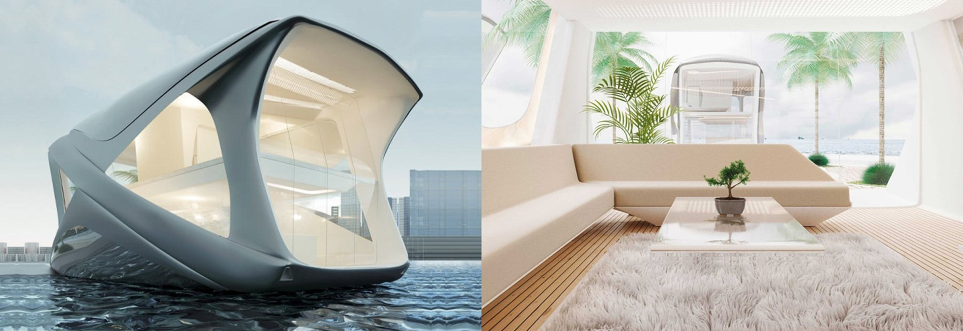 the 'ocean community' responds to rising sea levels with luxury houseboats