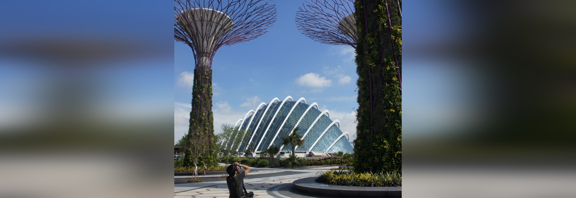 One of the two armadillo-like conservatories in Singapore's Bay South Garden – the first completed part of the coastal Gardens by the Bay project
