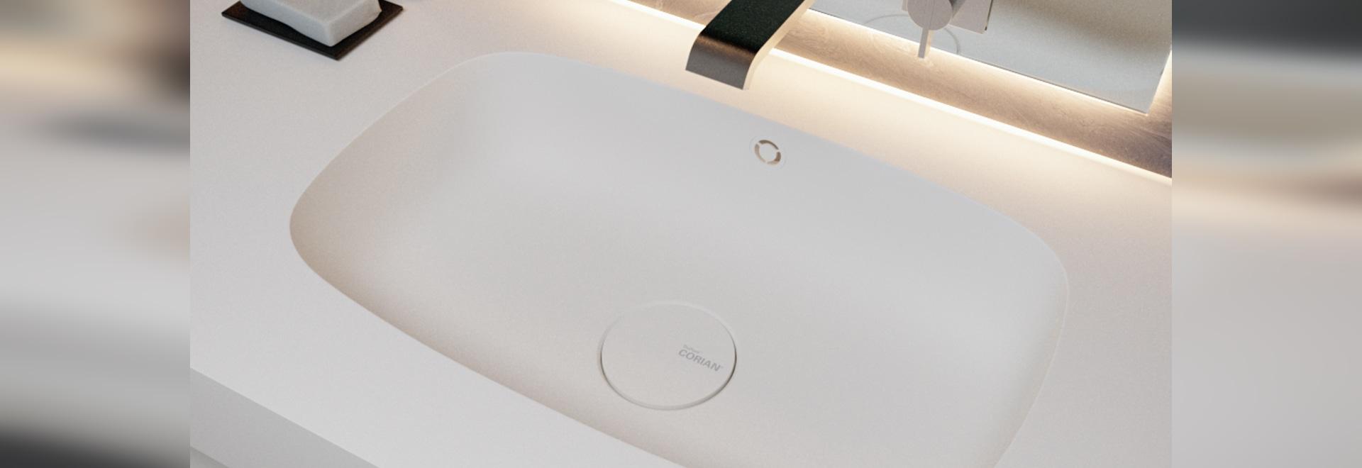 Peace Corian® Glacier White Washbasin