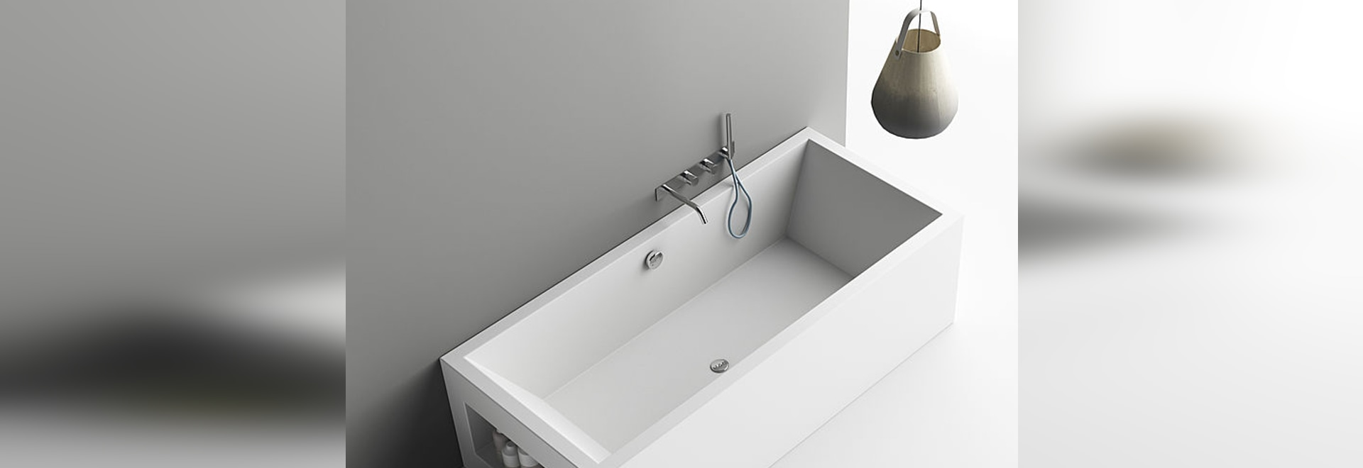 PLANIT presents Aquarius, the bathtub in Corian(R) taylor-made.
