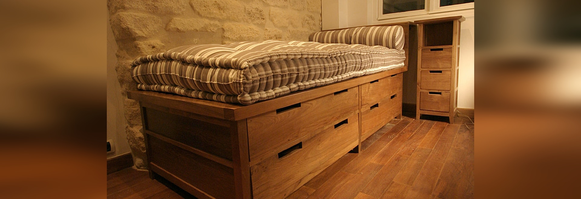 REclaimed Teak Bed with Drawers