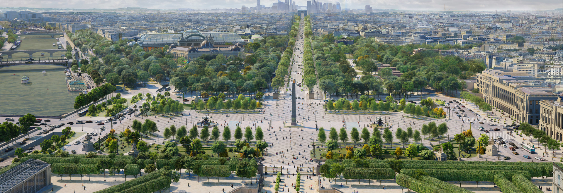 The redesign of Place de la Concorde will be completed in time for the 2024 Olympics