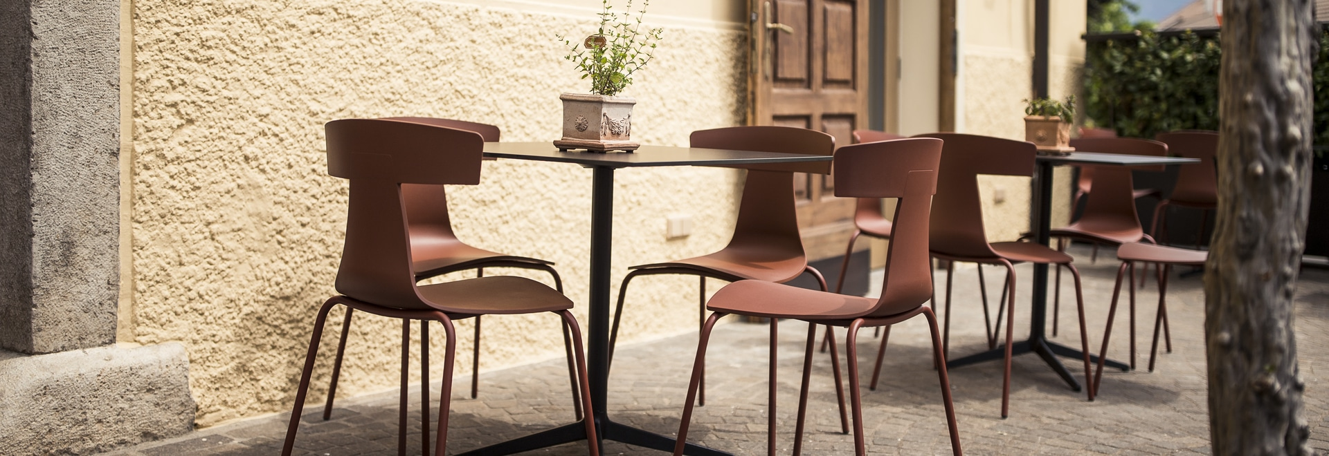 REMO platic chair and Mister X table