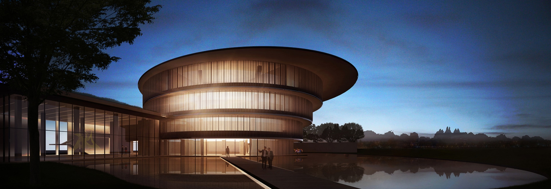 Rendering of the Tadao Ando-designed He Art Museum in China's southern city of Foshan, Guangdong Province.