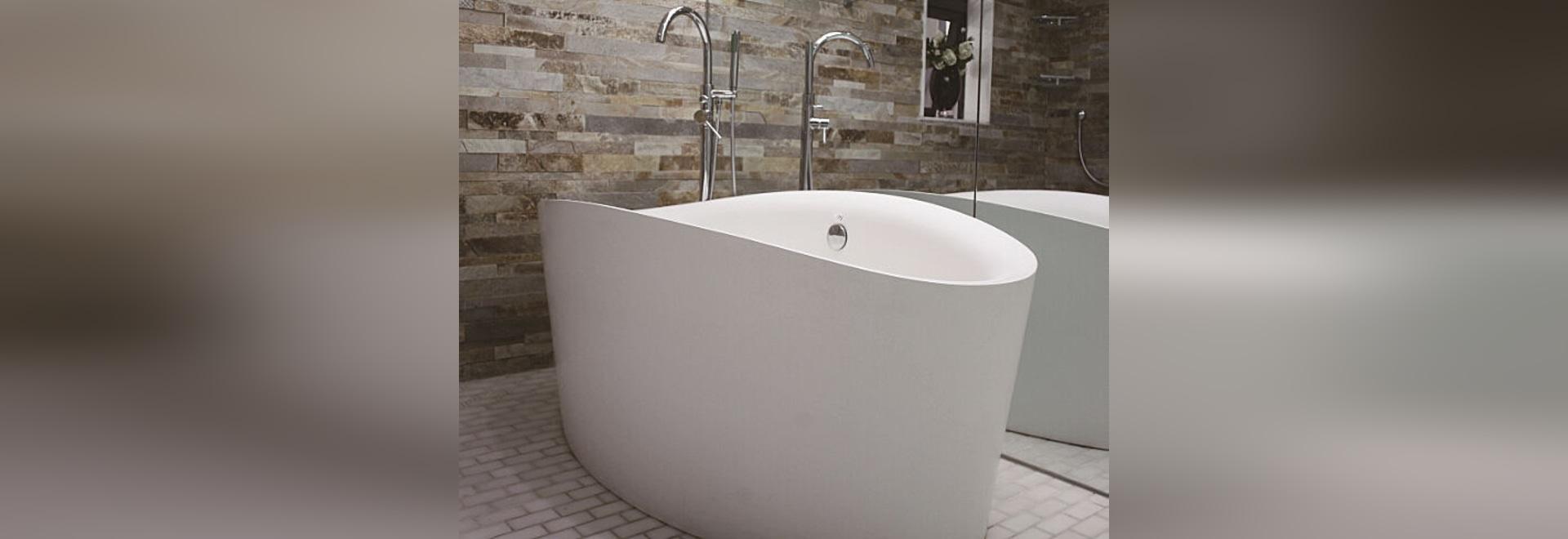 Resin stone bathtub PG11586 by PG