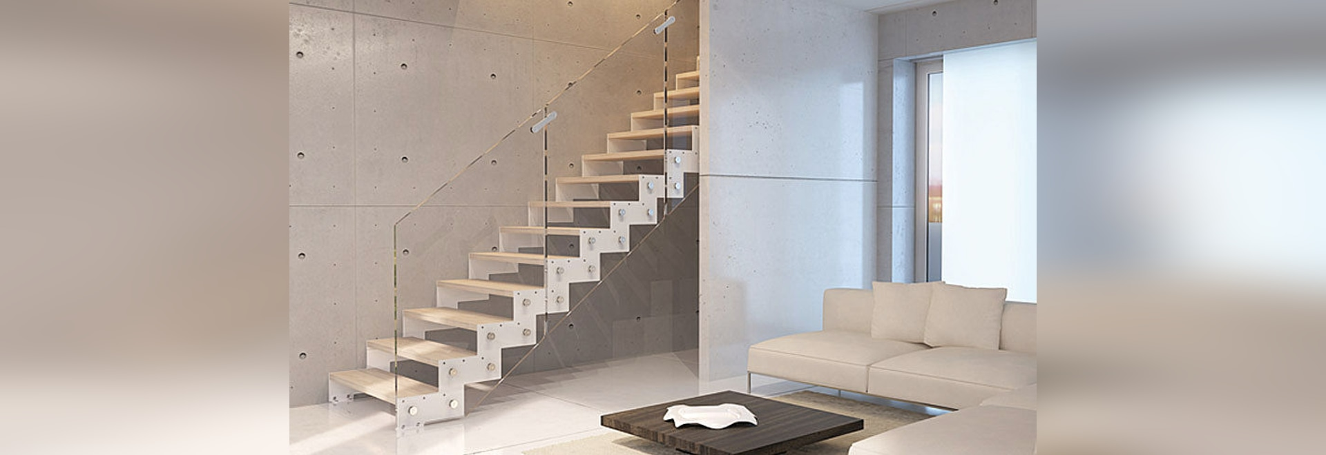 Rintal presents Nea, the steel staircase in which different materials is