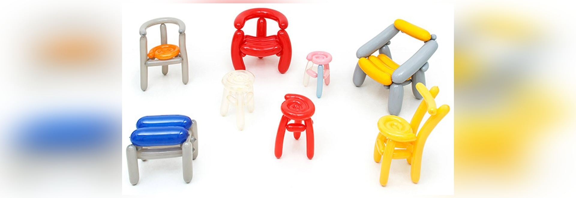 seungjin yang designs blowing chairs made from party balloons