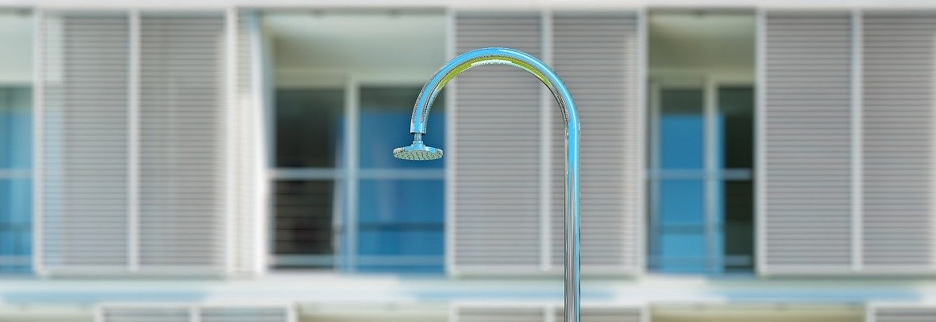 Sole 48 - luxury shower for outdoor, swimming pool, garden, yacht