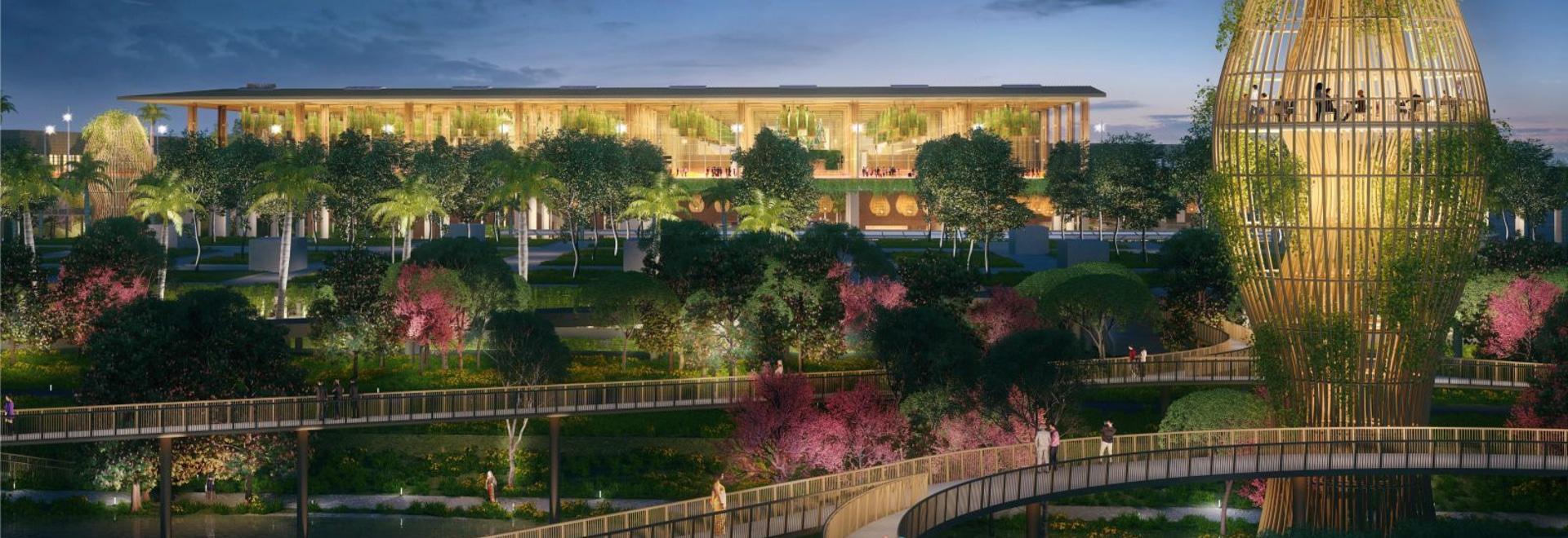 "SOM's design for new ""Garden Terminal"" at Kempegowda International Airport in Bengaluru"