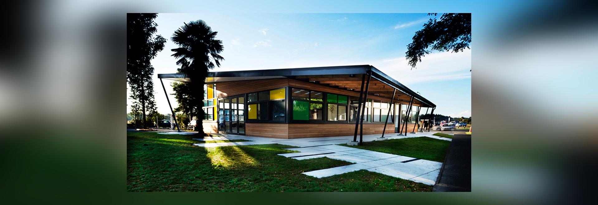 stephenson & turner re-imagine primary school admin building in auckland
