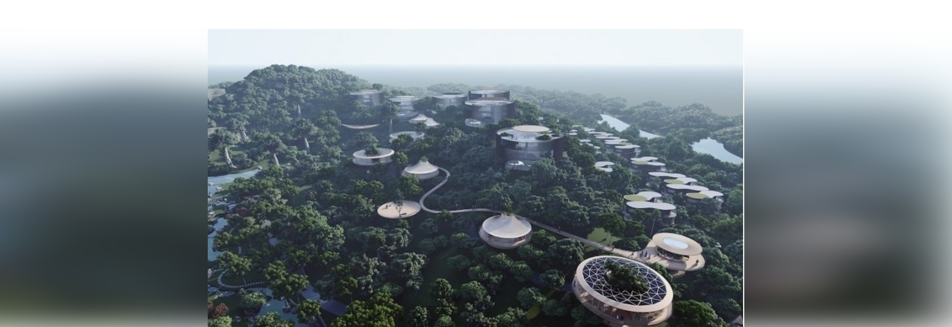 'Tales from the loop' is a cluster of scattered gateways amid an ancient chinese woodland area