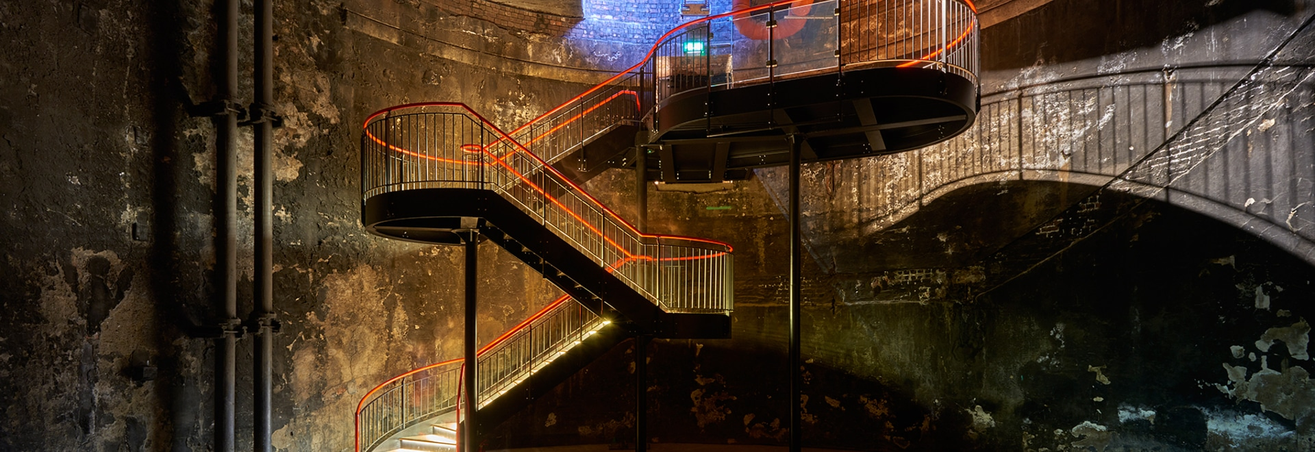 tate harmer transforms part of brunel's thames tunnel into a subterranean venue