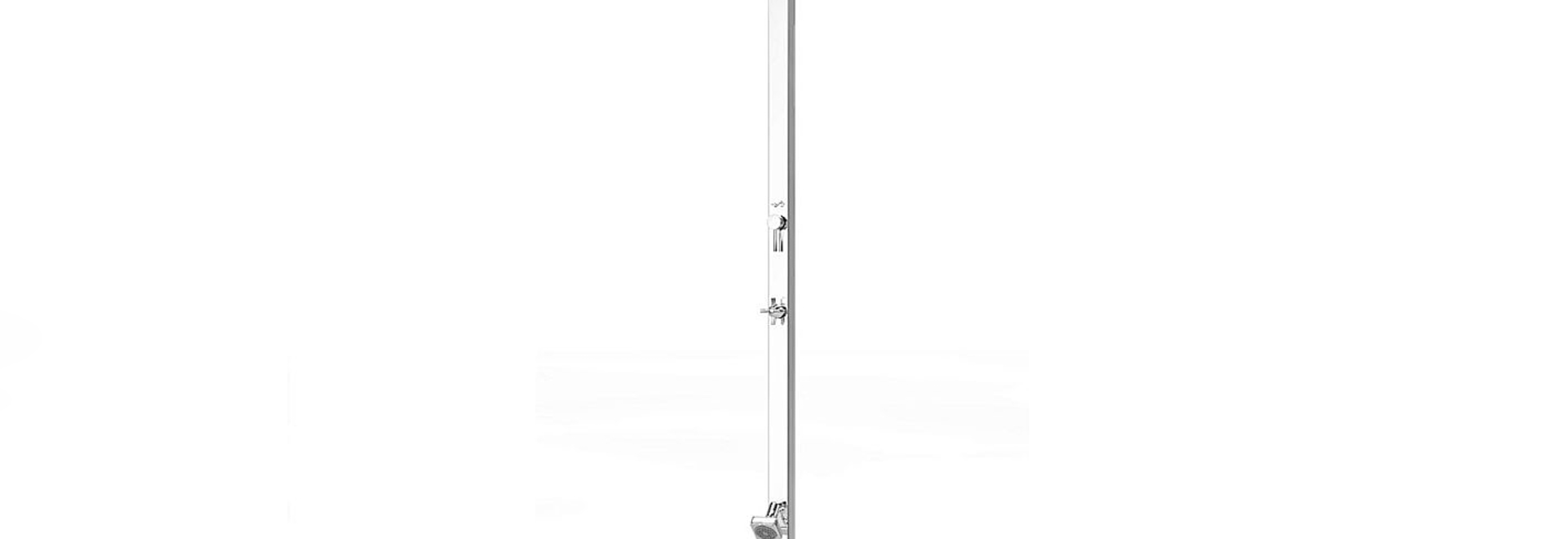 Tecno Cube - The new outdoor stainless steel shower by Inoxstyle