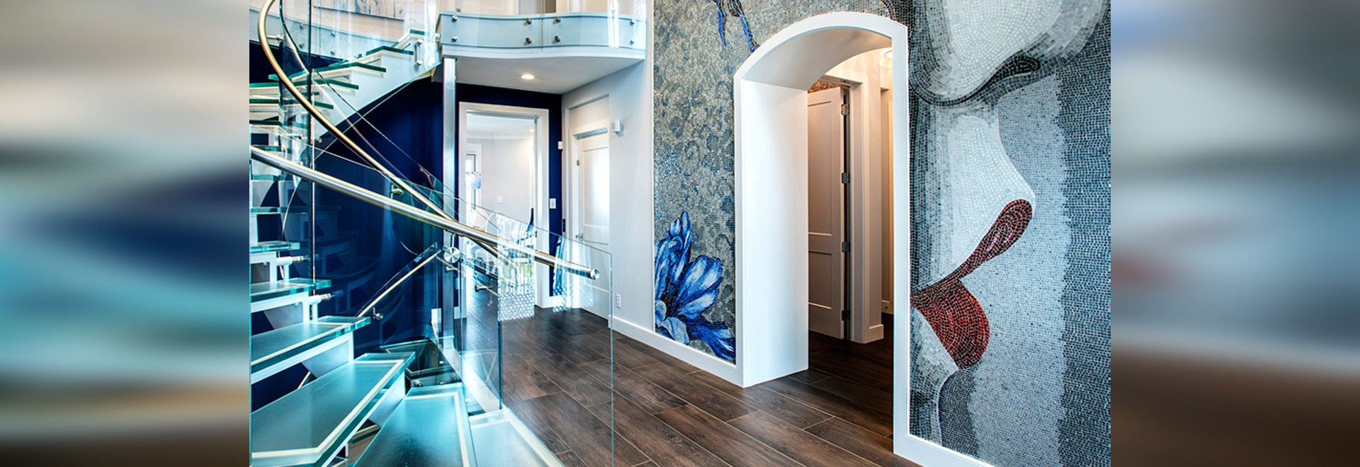 Thermoformed glass stair treads