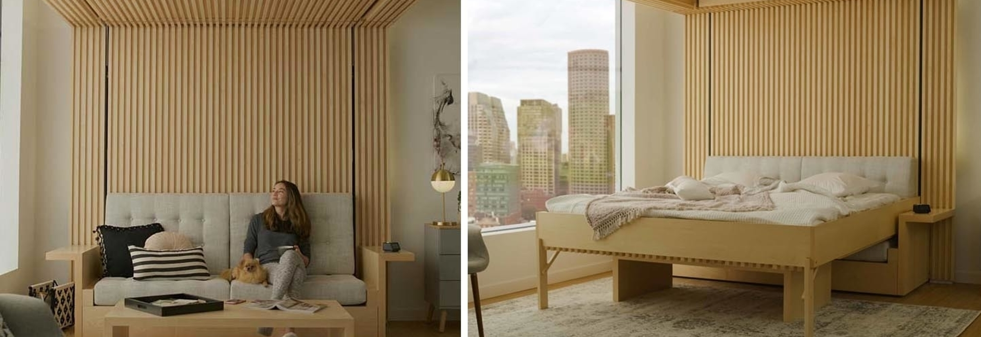 This Bed That Drops Down From The Ceiling Was Designed As A Solution For Small Apartments