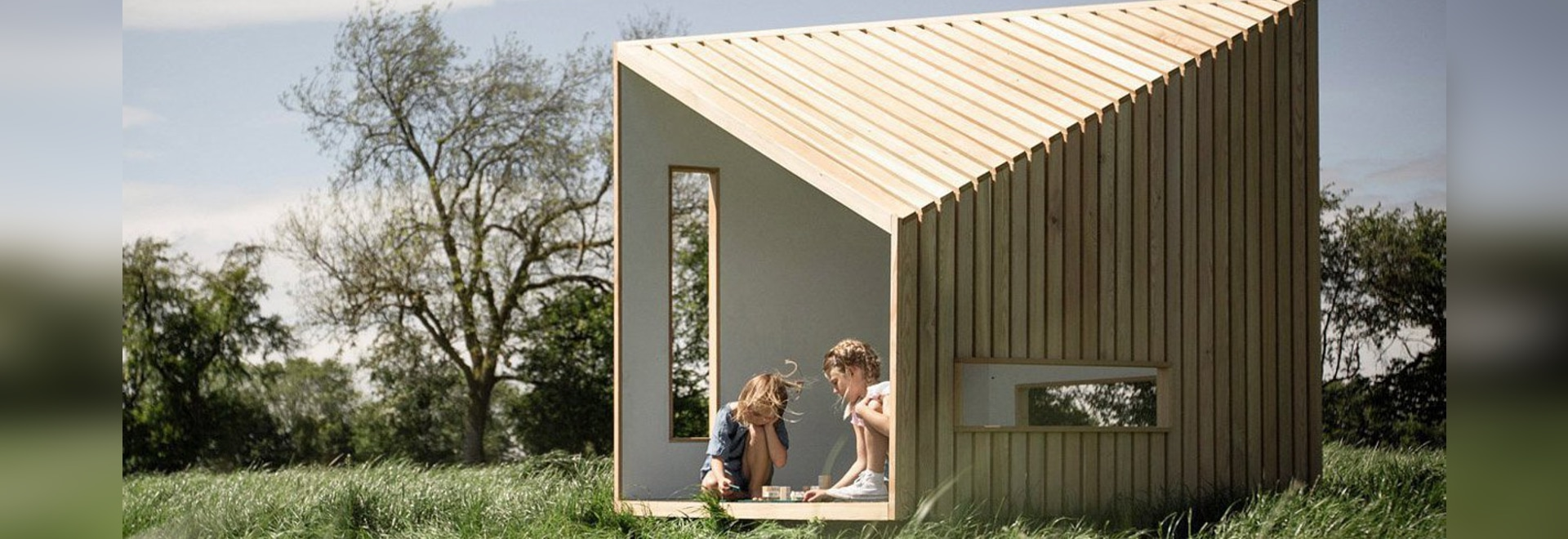 This Outdoor Playhouse For Kids Was Inspired By Modern Scandinavian Cabin Design