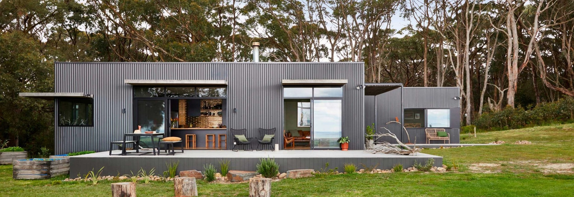 This Rural Home Was Clad With A Durable Woodland Grey Corrugated Steel Siding