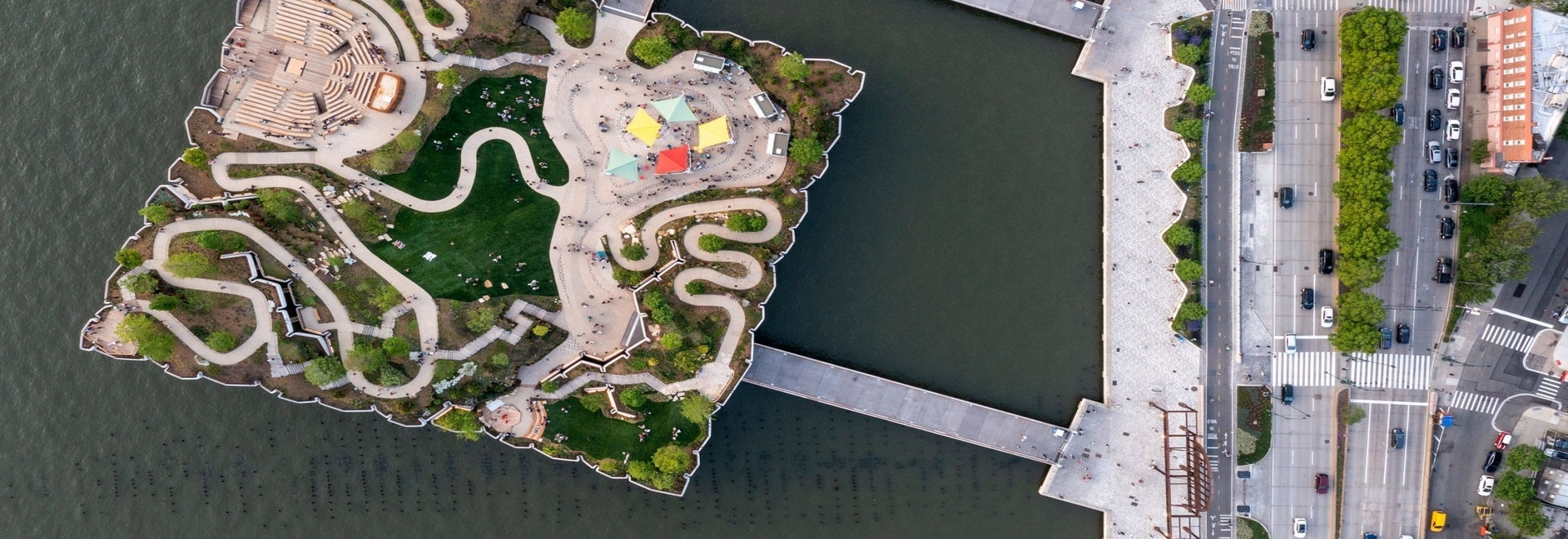 Thomas Heatherwick's Little Island park and outdoor theatre opens on the Hudson