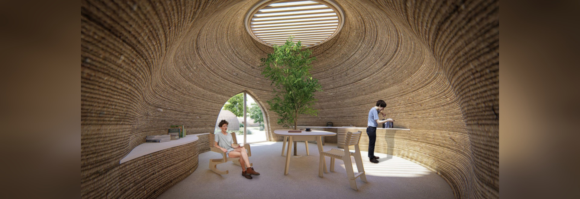 Though the home only consists of two rooms, the project will make history as the first to be entirely 3D printed using locally sourced clay.
