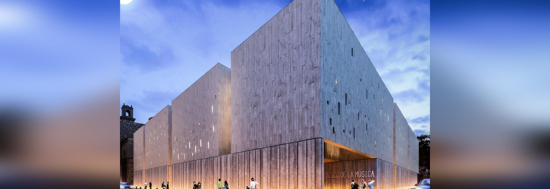 Ventilated facades of Sistema Masa for the Auditorium of Mérida, Mexico