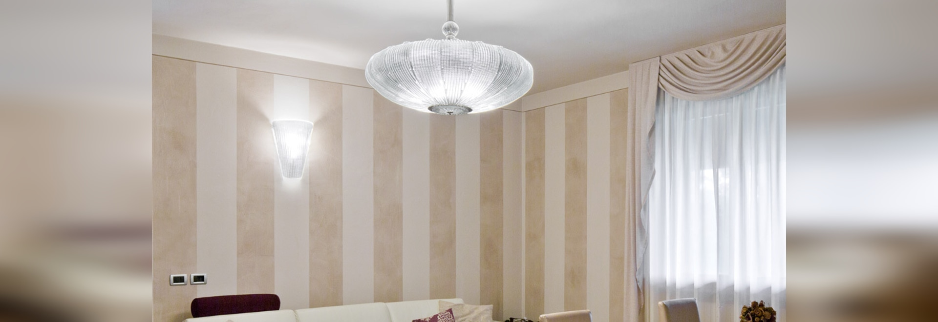 Wall lamp and contemporary chandelier Space Age